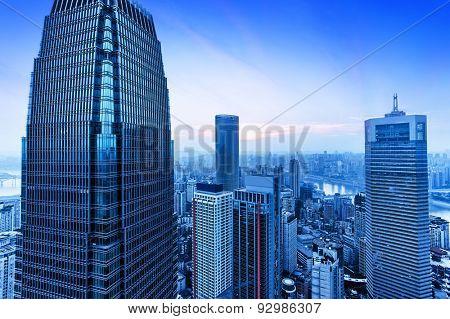 skyline of modern city chongqing