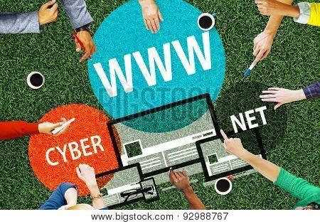 WWW Internet Online Global Communications Concept