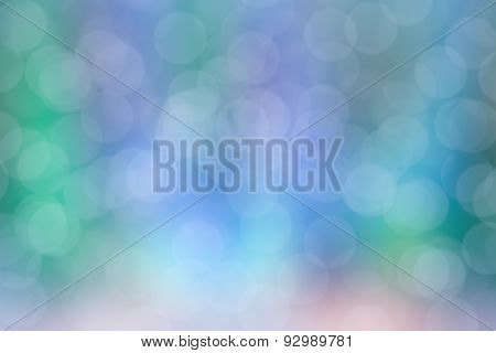 Abstract Circular Colorful Bokeh Blurred Background