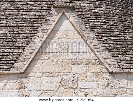 Close up of a Trullo. Alberobello. Apulia.