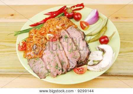 Corned Beef On Plate