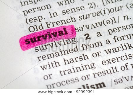 Dictionary Definition Survival