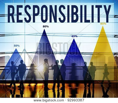 Responsibility Duty Job Reliability Roles Concept