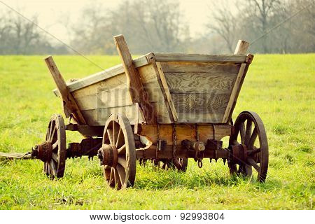 old cart on the field