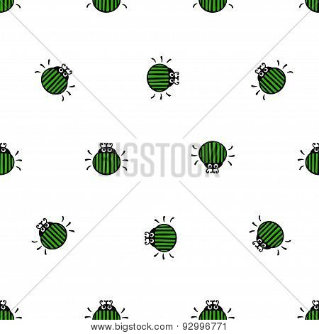 Bug Seamless Vector Pattern
