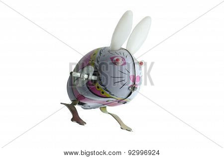 Antique tin toy Rabbit with shadow