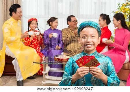Boy With Greeting Cards