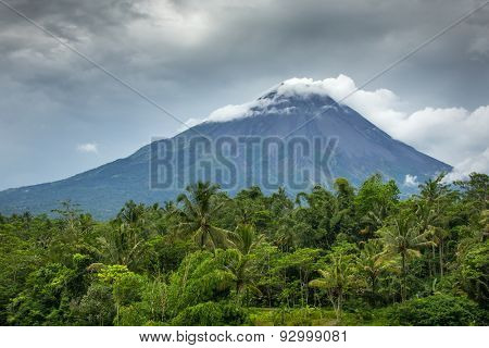 Mountain Merapi volcano, Java, Indonesia