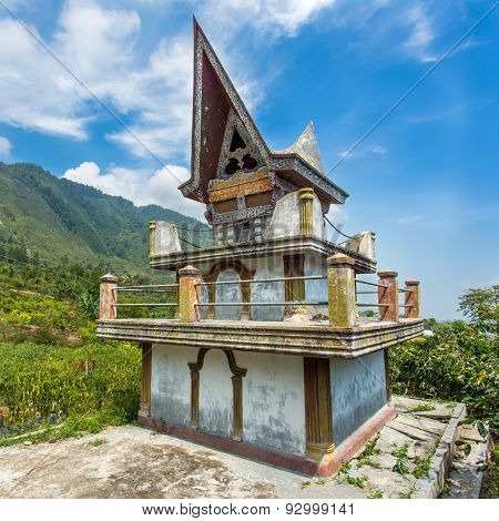 Batak tomb on the Samosir island near lake Toba, Indonesia, North Sumatra,