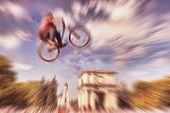 image of dirt-bike  - Abstract background  - JPG