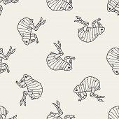stock photo of lice  - Flea Doodle - JPG