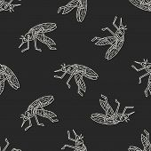 stock photo of gnats  - Mosquito Doodle - JPG