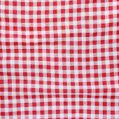 Постер, плакат: Red Linen Crumpled Tablecloth