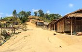 picture of shan  - A Dog In Hill Tribe Village - JPG