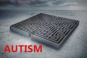 pic of autism  - autism against big maze under cloudy sky - JPG