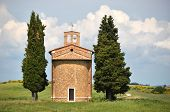 picture of chapels  - Little chapel surrounded by cypress trees - JPG