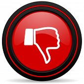 picture of dislike  - dislike red glossy web icon  - JPG