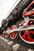 picture of train-wheel  - the wheels of the old train photographed by a close up - JPG