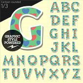 picture of redneck  - Vector children alphabet set in country style with colorful hearts - JPG