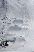 pic of sochi  - Snow park in mountain ski resort - JPG