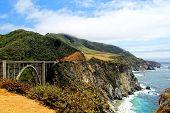 image of bixby  - beautiful view from bixby bridge - JPG