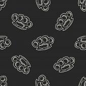image of brass knuckles  - Knuckles Doodle - JPG