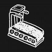 picture of treadmill  - Treadmill Machine Doodle - JPG