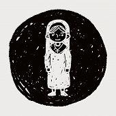 foto of nun  - Nun Doodle - JPG