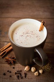 stock photo of cardamom  - masala chai with spices - JPG