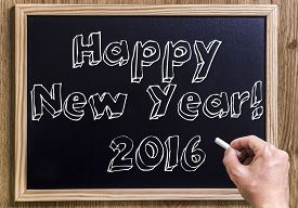 picture of chalkboard  - Happy New Year - JPG
