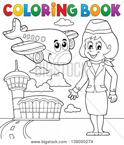Coloring book aviation theme 2 - eps10 vector illustration.