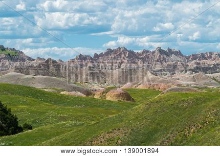 The beautiful, colorful Badlands of South Dakota.
