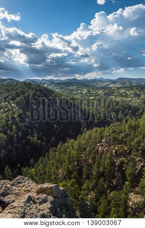 View from Lover's Leap in Custer State Park.