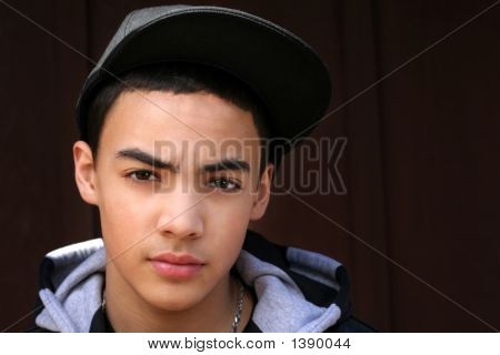 Teen Boy With Hat