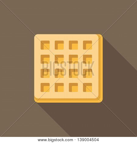 Vector waffle with long shadow, flat design