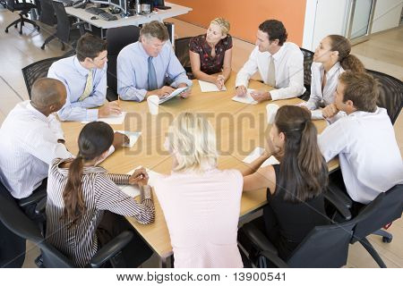 Stock Traders In A Meeting