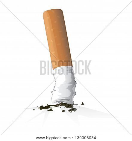 cigarette vector , smoking kill danger illustration