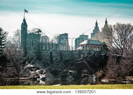 Belvedere Castle At Central Park In Manhattan, New York City