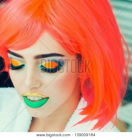 Pretty Girl With Orange Hair