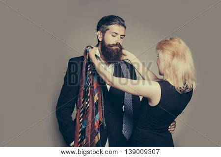Young Couple With Tie
