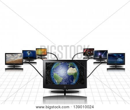 World in screen connected to more 3D Render from my own images