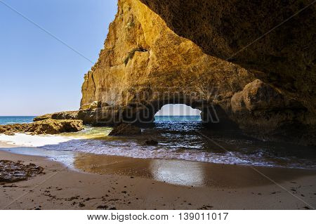 Beautiful Cave In The Algarve Portugal