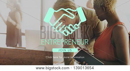 Entrepreneur Startup New Business Entrepreneurship Concept