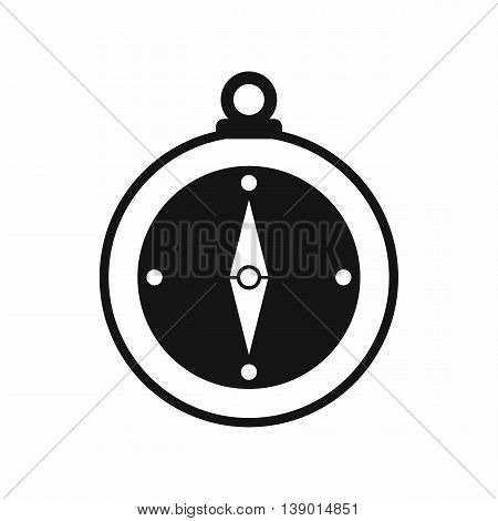 Compass icon in simple style. Travel black icon isolated vector illustration