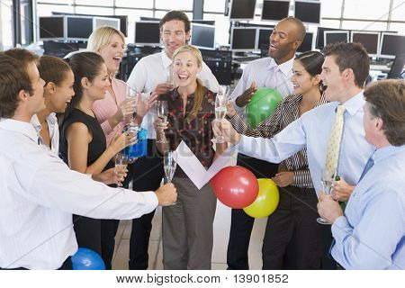 Stock Traders Celebrating In The Office