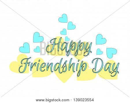 Happy Friendship Day. Hearts On White Background. Vector Illustration.