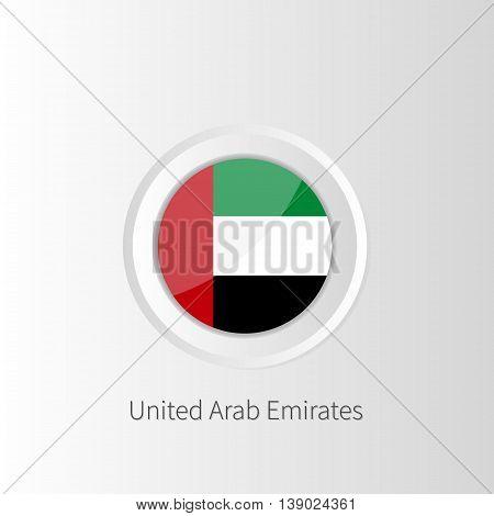circle flag of United Arab Emirates UAE