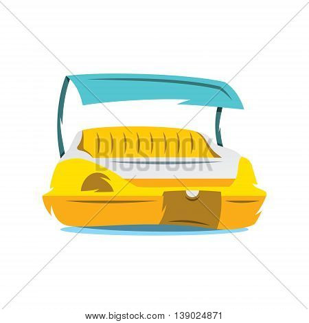 A foot pedal boat for two. Isolated on a White Background