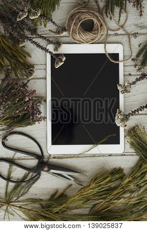 Style Connection Tablet Decorate Concept