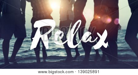 Relax Calm Chill Life Resting Vacation Wellness Concept
